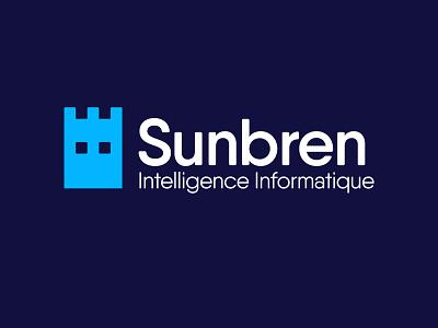 Sunbren - Intelligence Informatique eyes tower intelligence computer security pixel design logo sunbren