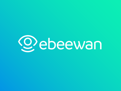 Ebeewan logo design digital data brand branding smart sensors iot identity design logo ebeewan