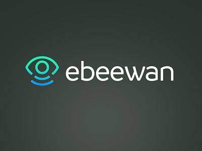 Ebeewan logo (inverted) wan sensor iot business app brand design identity logo