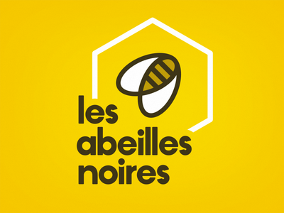 Les Abeilles Noires logo design abeilles black yellow honey bees branding identity design logo