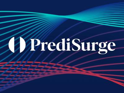 PrediSurge logo design