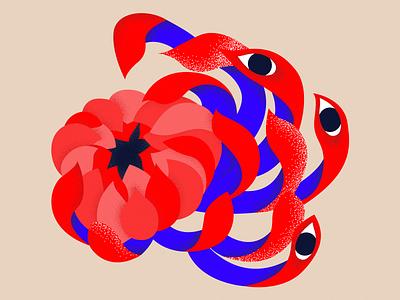 Flower Bloom graphicdesign vector design minimal mark art illustration