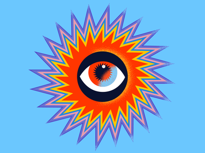 Eye of the Sun artwork digitalart art graphicdesign vector design minimal icon illustration