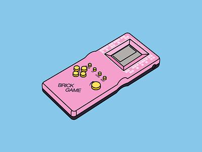 Brick Game 90s play game design icon art mark illustration
