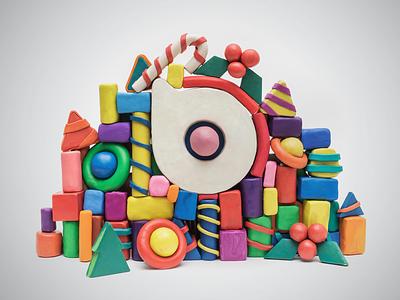 New Year Postcard sculpting plastic newyear design art icon logo
