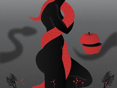 Eve vector eve snake women graphicdesign digitalpainting art illustration