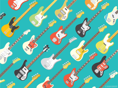 Bass Guitars rickenbacker yamaha fender music guitars bass illustration