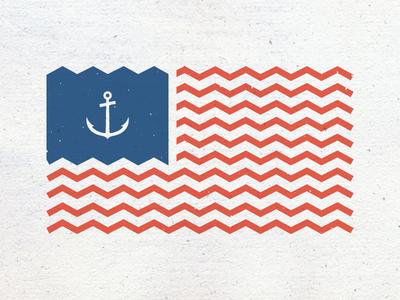 US Flag usa us flag anchor sea ocean america