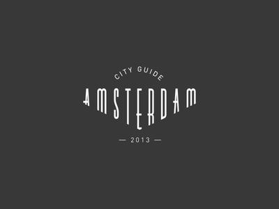 Amsterdam (logo) amsterdam logo city guide typeface typography identity travel
