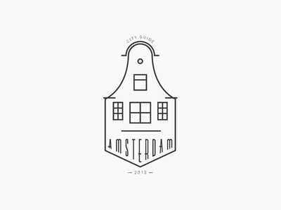 Amsterdam amsterdam logo city guide typeface typography identity travel building architecture