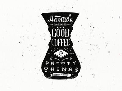 Hømade Coffee coffee motion design illustration logo typography handwriting chemex luv studio vinslev sunrise over sea vidéo lifestyle