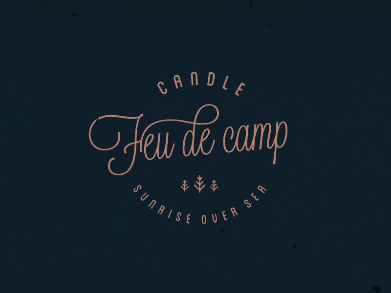 Feu de camp - Candle candle logo campfire