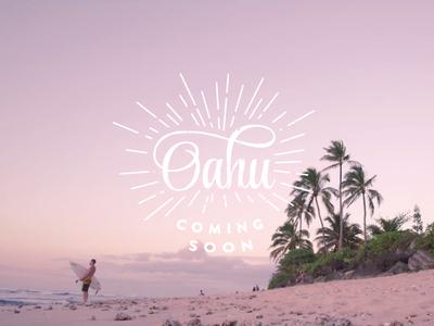 Oahu (video) typography typeface video hawaii surfing bodyboard
