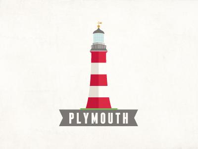Plymouth Lighthouse plymouth lighthouse sea port harbor vintage vinslev vinslëv england coast