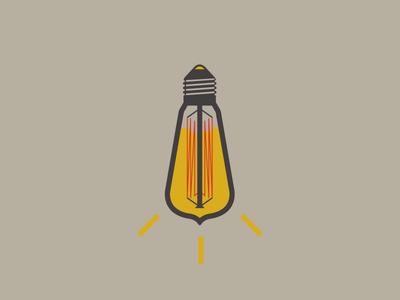 The Mustard Bulb icon mustard condiment bulb light logo food moutarde ampoule edison sauce