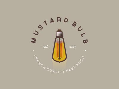 Mustard Bulb V2 mustard condiment bulb light logo food moutarde ampoule edison sauce