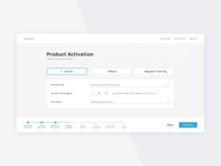 IT-Security Product Activation - UI