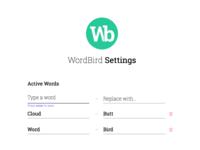 Wordbird Settings