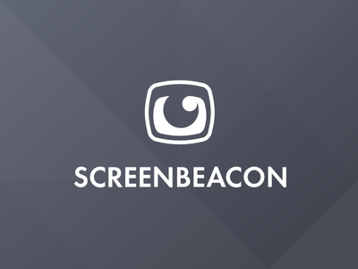 Screenbeacon Logo brand identity minimal line simple screen eye logo screenbeacon