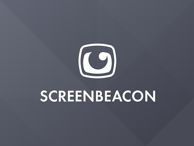Screenbeacon Logo brand identity minimal line simple screen eye logo screenbeacon