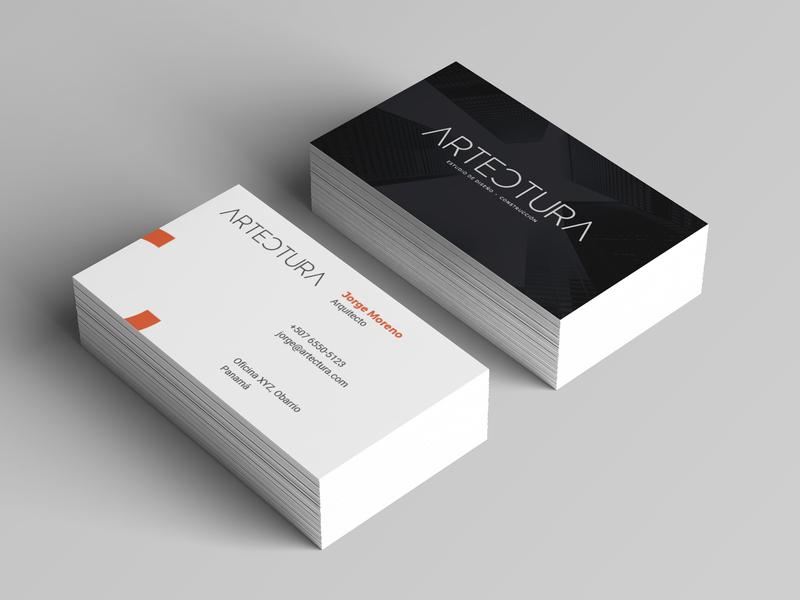 Artectura business card logo design branding