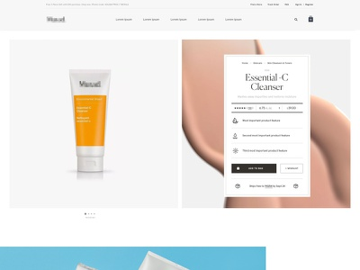 Skincare Hero Concept texture skincare product pdp hero ecommerce ecomm healthcare
