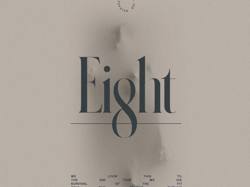 Old No. 8 NØ-ISØ Cover custom type compositing dark jon way typogaphy album cover album art cover jw.s