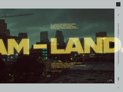 Dream-land art direction random instagram titles projection photography photo dark isnta