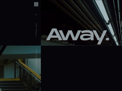 Run Away type gallery story instagram design color grade photo dark art direction
