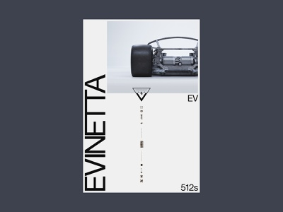 Scrapped Evinetta Poster 04 jw.s jon way minimal swiss automotive vertical type type art direction design car poster