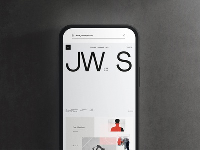 JW.S® 2021 Site (Coming Soon) art direction ux ui design interactive preview portfolio folio jon way jw.s