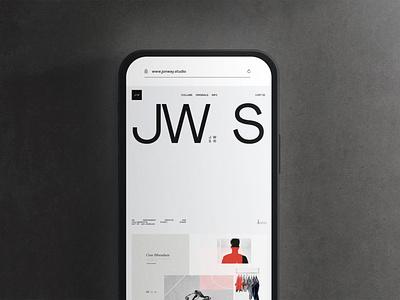 JW.S® 2021 Site (Coming Soon) art direction ux ui design interactive preview portfolio folio jon way jw.s