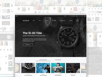 Nixon.com Redesign ecomm ecommerce nixon watches apparel clothing responsive redesign basic simple