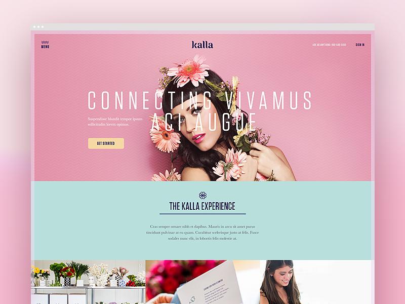 Kalla Homepage kalla flowers direction ecommerce ecomm basic