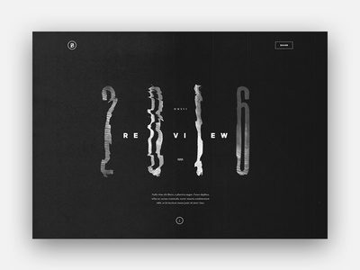 BASIC Year in Review AD Exploration 1 minimal. distortion art direction review yir