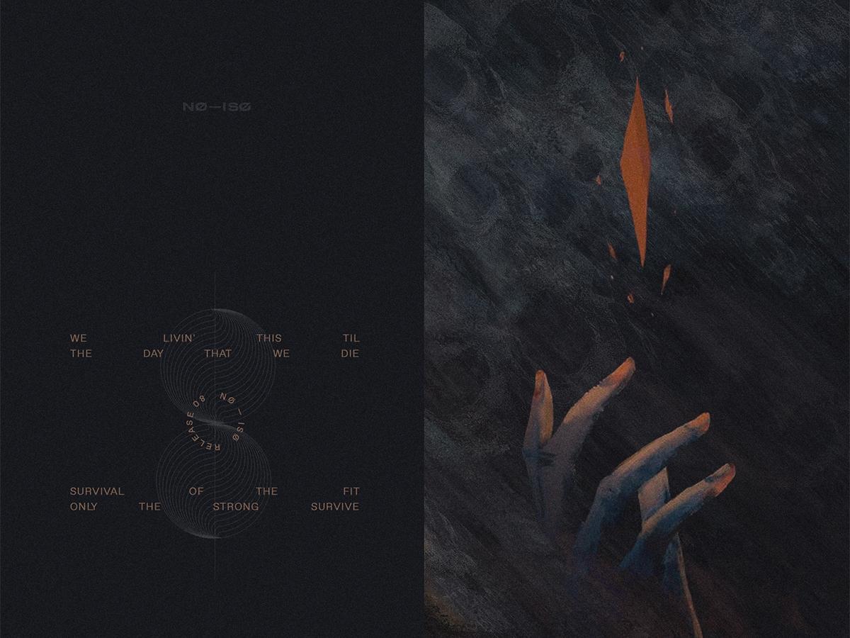 NØ—ISØ Release 08 compositing random dark mix playlist cover art poster no iso
