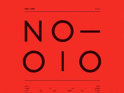 NØ— ISØ // Release 10