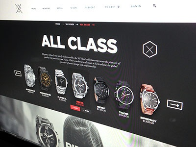 Nixon Redesign for Fun [Preview] redesign rebrand ecommerce preview expanded nixon watches breadcrumb