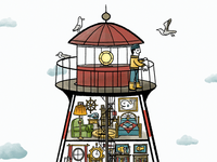 The Busy World of a Lighthouse