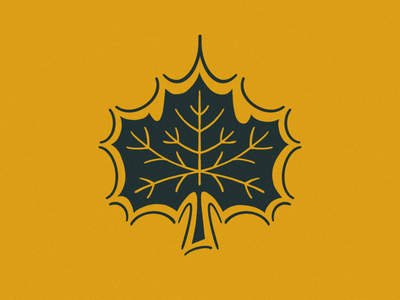 The Mighty Maple Leaf procreate illustration maple leaf leaf maple