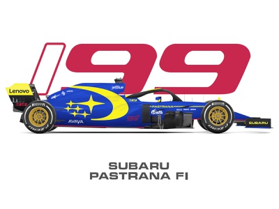 Subaru F1 Livery concept motorsports livery formula 1 f1