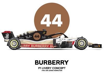 Burberry F1 Livery Concept car design formula 1 f1 concept art livery burberry