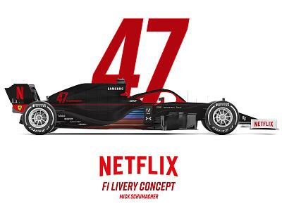 Netflix F1 Livery Concept ferrari netflix car design livery formula one formula 1 f1