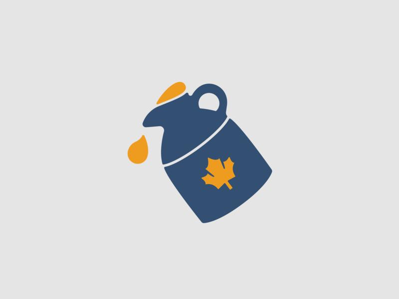 Maple Jug icon illustration maple syrup syrup maple jug maple leaf maple
