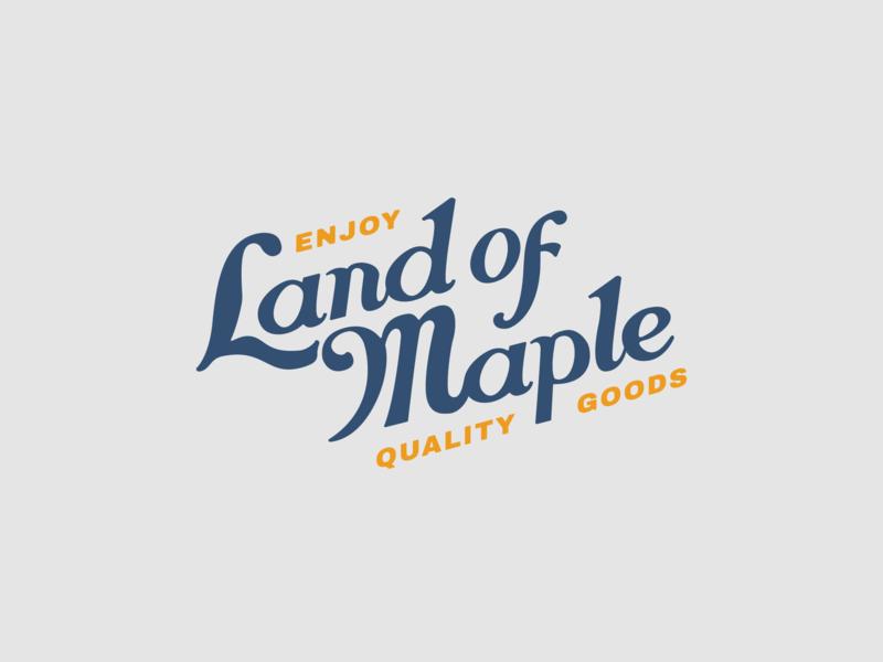 Land of Maple Wordmark wordmark lettering branding identity