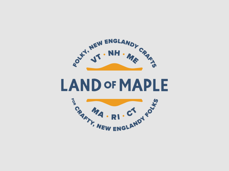 Land of Maple Badge badge design branding identity