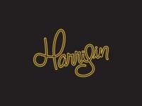 Harrisin Script Lettering