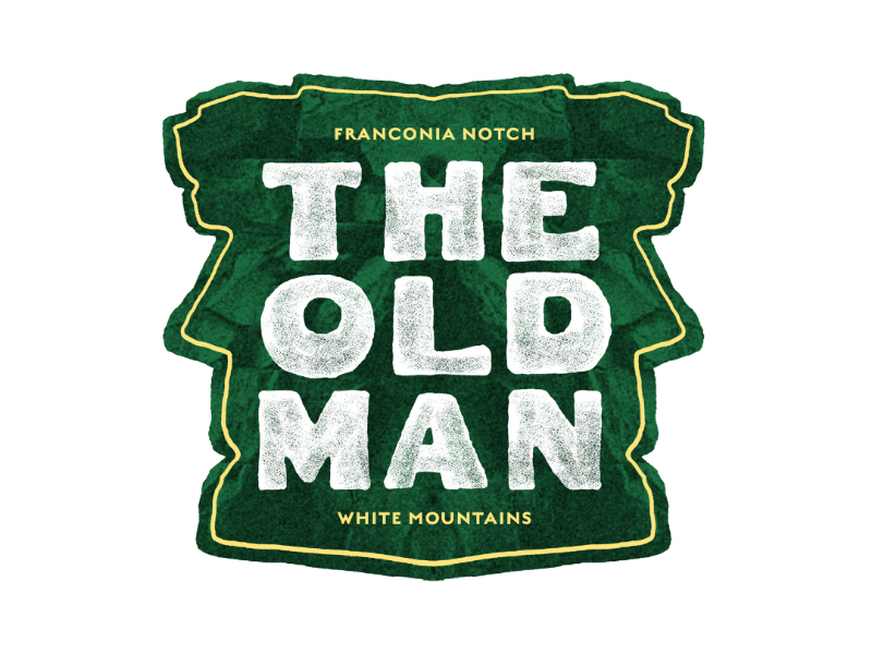 The Old Man of the Mountain new hampshire new england lettering