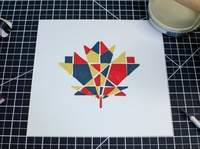 Maple Leaf Block Print