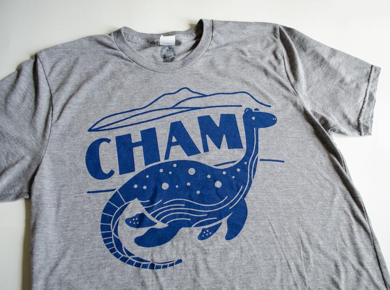 Champ Lake Champlain T-Shirt monster lake vermont champ new england shirt design shirt screenprint illustration